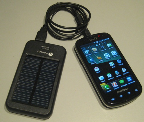 Monaco Mobile Phone Solar Charger Review Power Your