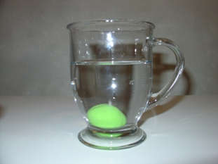 Play-Doh ball sinks