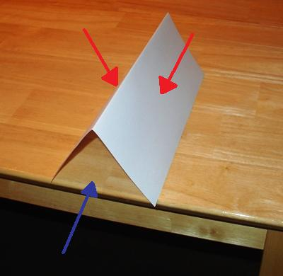 A simple demonstration of air pressure & Learn about air pressure with a piece of paper